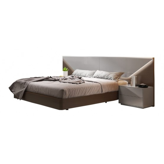 Anzio Modern Bed with Lighting photo