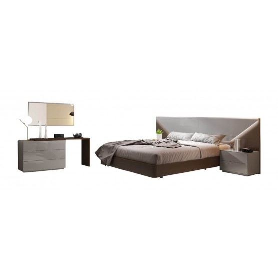 Anzio Modern Bedroom Set with Lighting photo