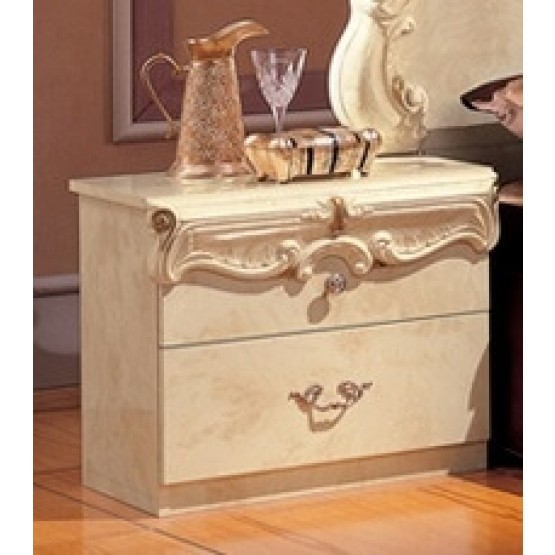 Barocco Wood Nightstand photo