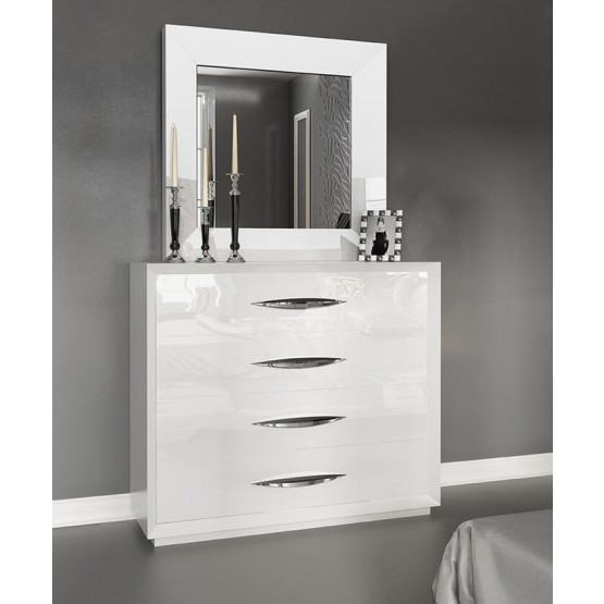 Carmen Single Dresser, White photo