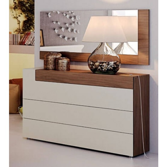 Elena Wood Veneer Single Dresser photo