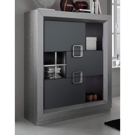 Enzo Modern Wood 3-Door Display Unit photo