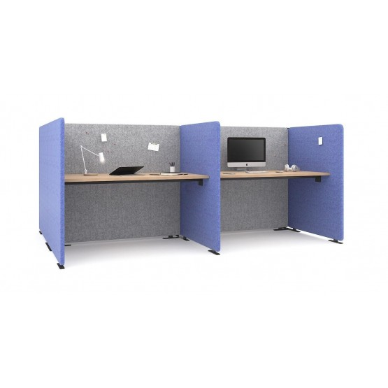 My Space Office Desk w/Acoustic Screens for 2 Persons photo