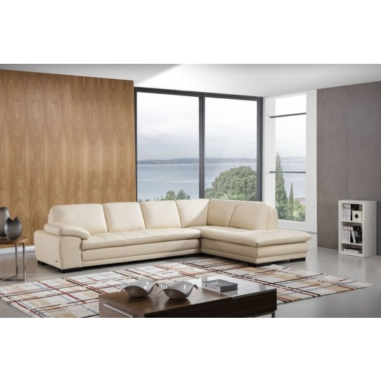 Ml157 Top Grain Leather Match Sectional, Beverly Hills Furniture