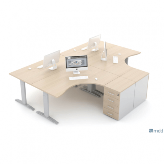 ERGONOMIC MASTER Radial Office Desk photo