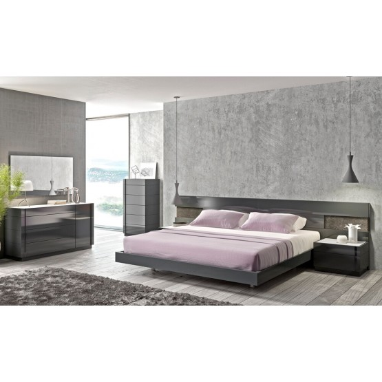 Braga Premium LED Platform Bedroom Set photo