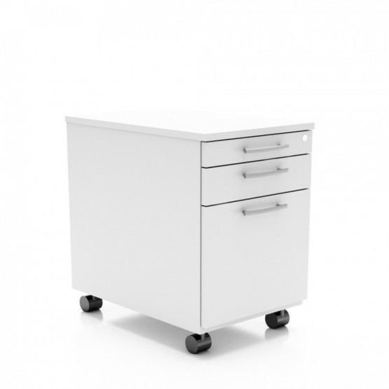 Standard Mobile Pedestal w/3 Drawers, Casters & Lock photo