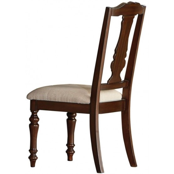 Glendive Traditional Fabric Dining Chair photo