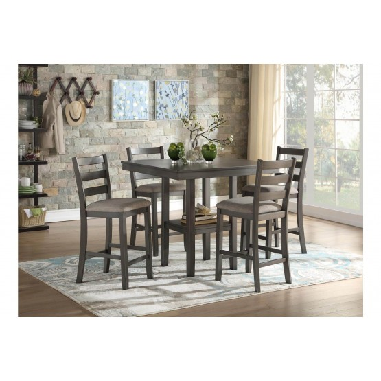 Sharon Transitional Counter Height Dining Room Set (Table + 4Chairs) photo