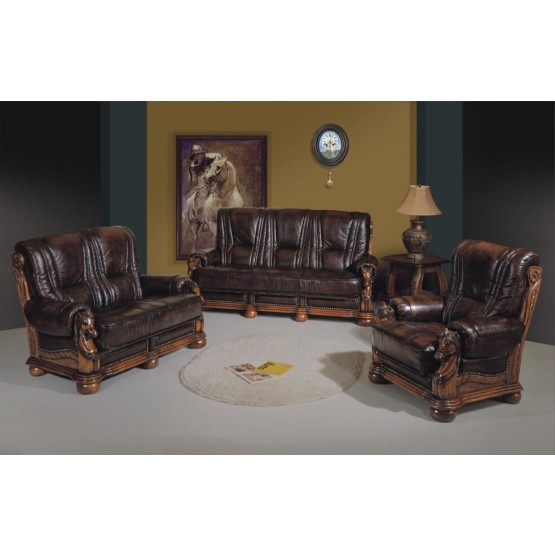 Caesar Full Leather Living Room Set photo