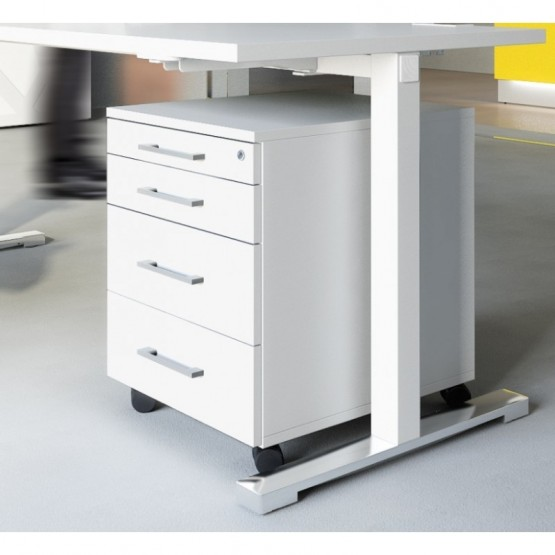 Standard Mobile Pedestal w/4 Drawers & Casters photo