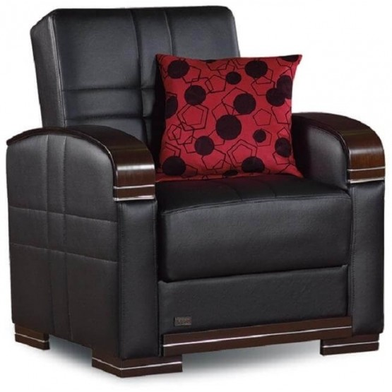 Bronx Bonded Leather Chair photo