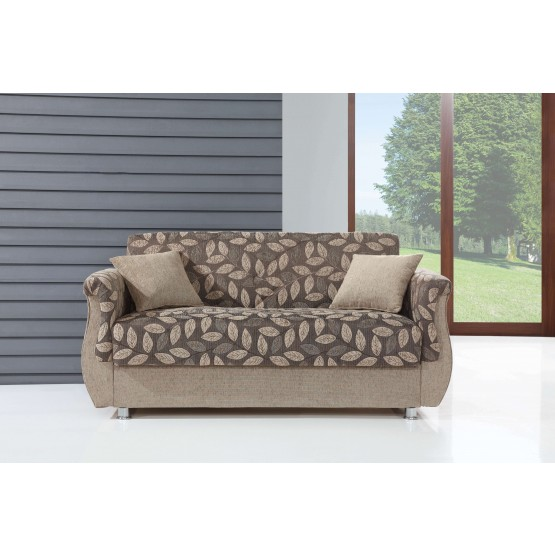 Chestnut Fabric Storage Loveseat photo