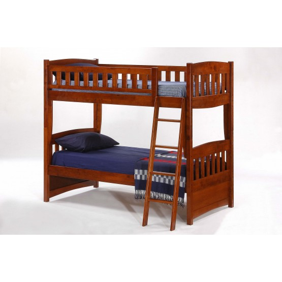 Cinnamon Wood Bunk Bed, Twin/Twin Size photo