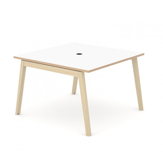 Nova Wood Square Melamine Meeting Table with Power Socket for 4/6 Persons photo
