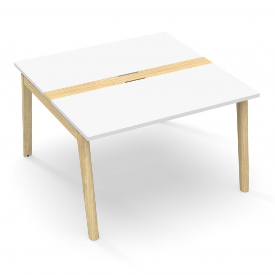 Nova Wood Square Melamine Meeting Table with Grommet for 4/6 Persons photo