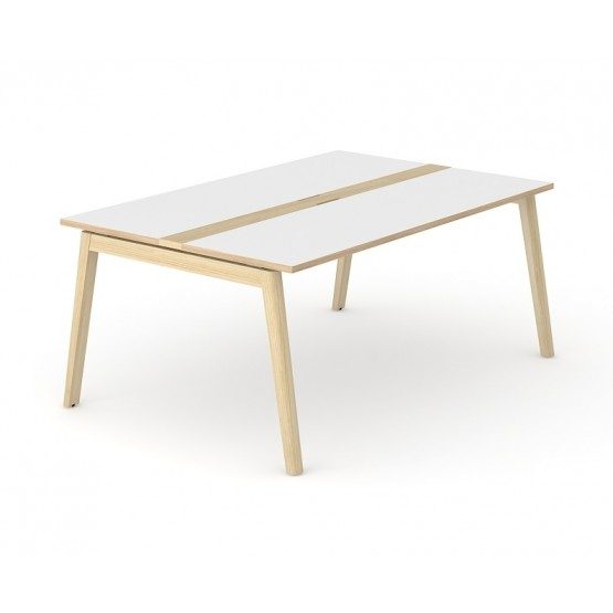 Nova Wood Rectangular Melamine Meeting Table with Grommet for 6 Persons photo