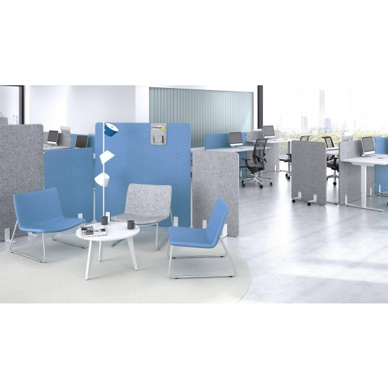 Free Standing Office Acoustic Screen Customizable Set photo