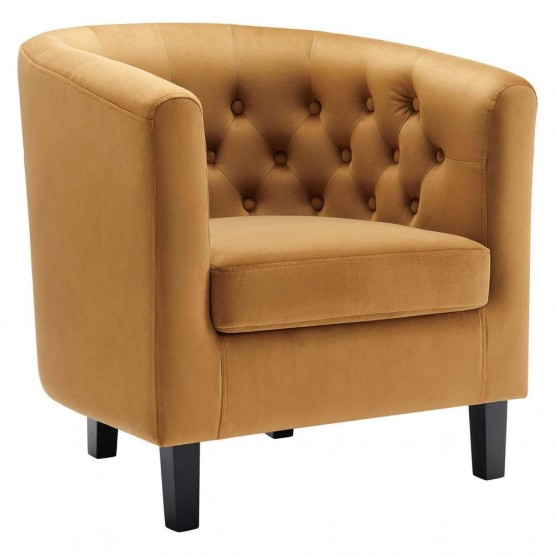 Prospect Performance Velvet Armchair photo