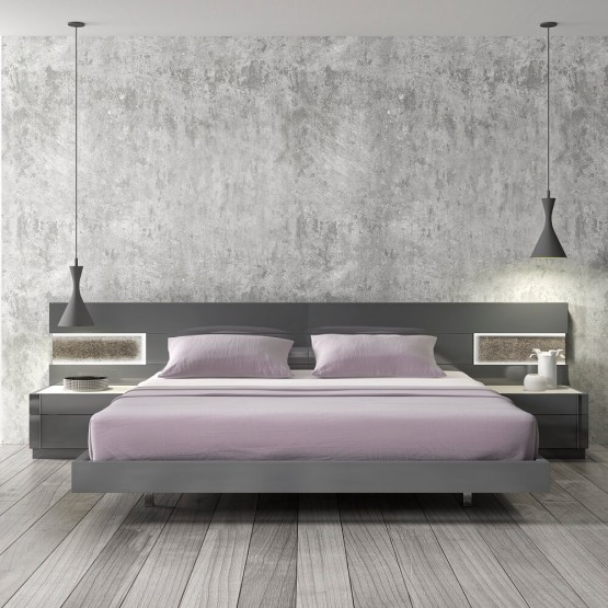 Braga Premium LED Platform Bed photo