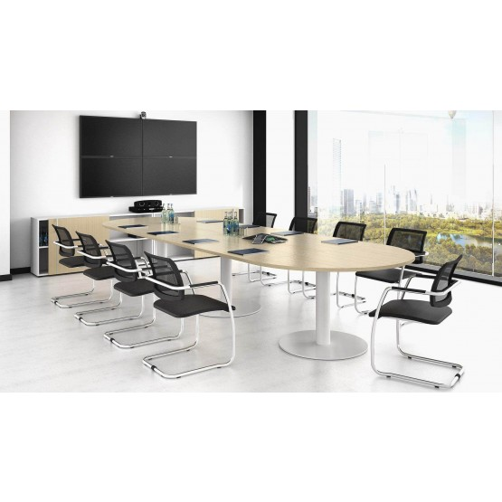 Forum Oval Large Meeting Table w/Metal Frame for 14 Persons photo