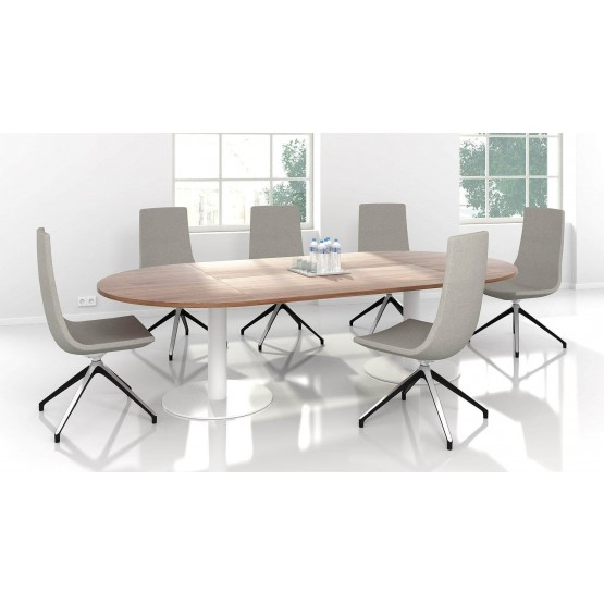 Forum Oval Meeting Table w/Metal Frame for 8/10 Persons photo