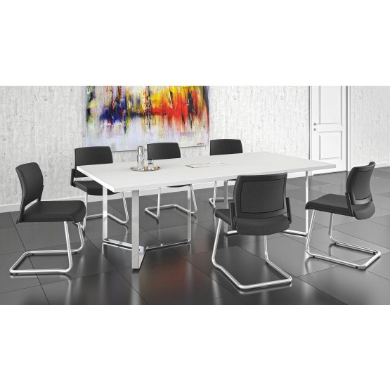 Plana Meeting Table for 8 Persons w/Grommet & Box for Power Socket photo