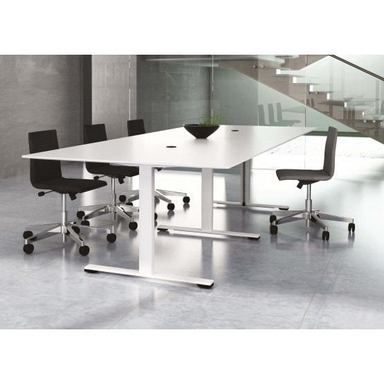 Jazz Meeting Table w/Metal Base & 2 Power Sockets for 12 Persons photo
