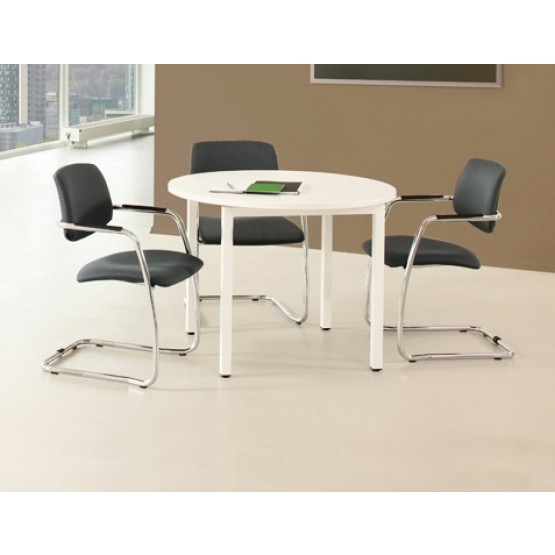 Nova U Round Small Meeting Table w/Metal Frame photo