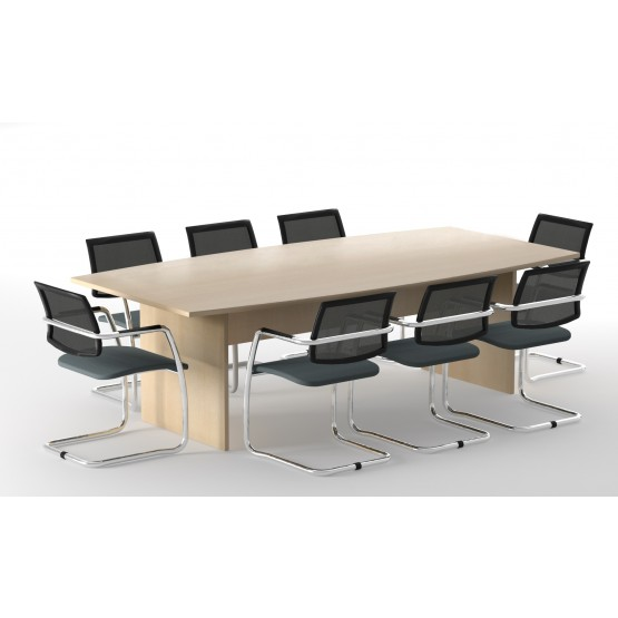 Optima Meeting Melamine Table w/Modesty Panel for 8 Persons photo