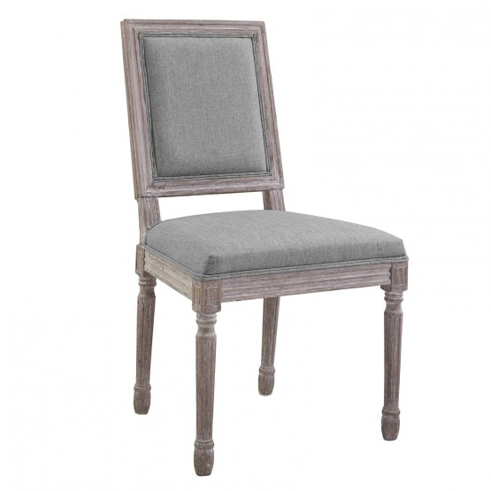 Court Vintage French Upholstered Fabric Dining Side Chair photo