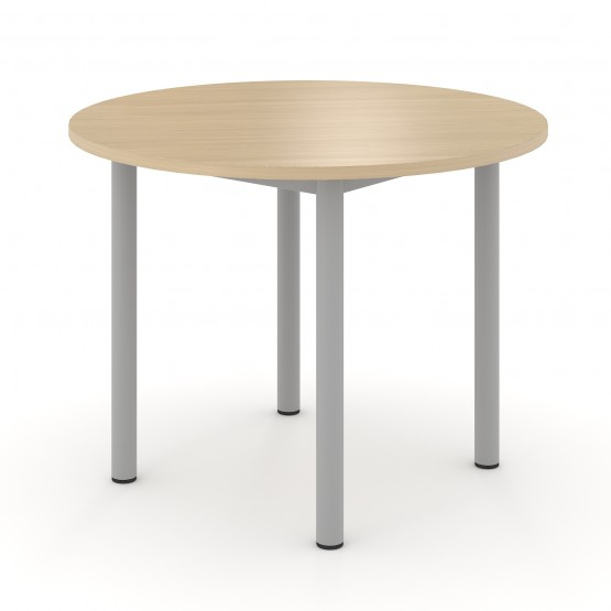 Optima Round Melamine Meeting Table w/Metal Frame for 4 Persons photo
