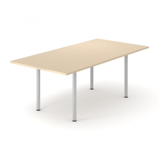 Optima Rectangular Melamine Meeting Table w/Metal Frame for 6 Persons photo