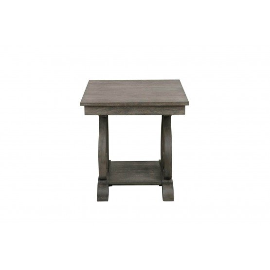 Toulon Wood Veneer End Table photo