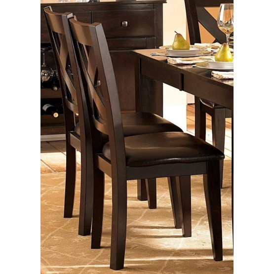 Crown Point Transitional Vinyl/Wood Dining Chair photo
