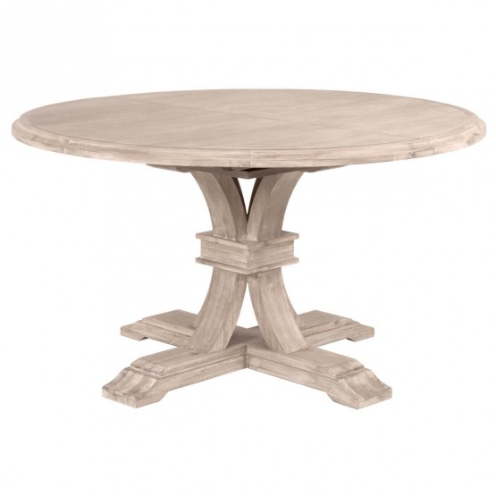 Devon 54 Round Extendable Dining Table Natural Gray By Essentials For Living Sohomod Com