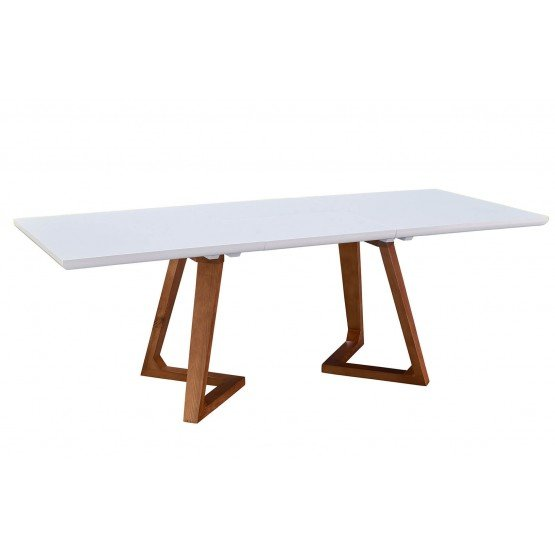 1692 Modern Rectangular Extendable Dining Table photo