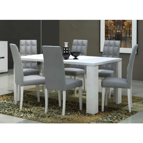 Elegance Modern Rectangular Wood Extendable Dining Table photo