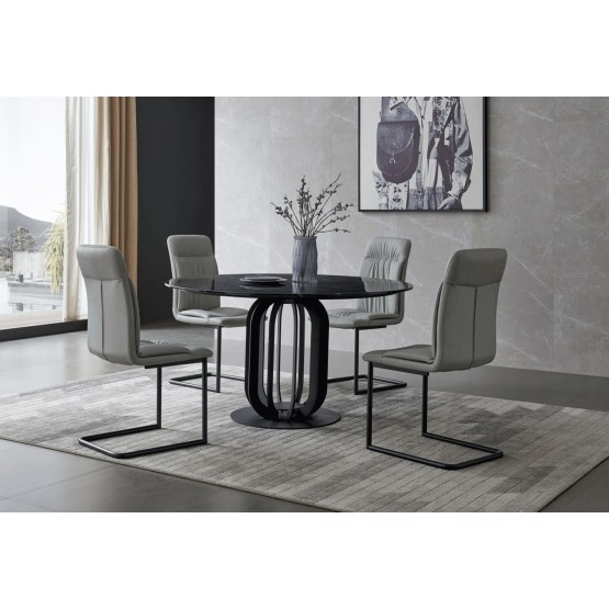 315 Marble Round Dining Room Set photo