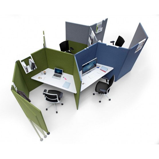Link 4-Person Office Modular Screen System photo