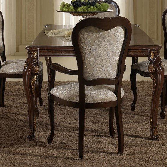 Donatello Classic Fabric Dining Arm Chair photo