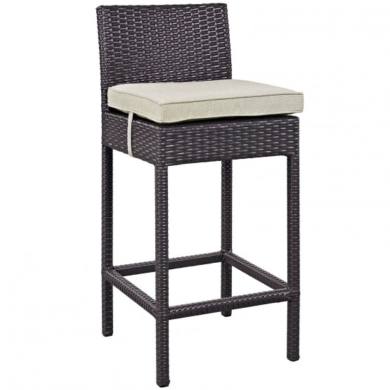 Convene Outdoor Patio Fabric Bar Stool photo