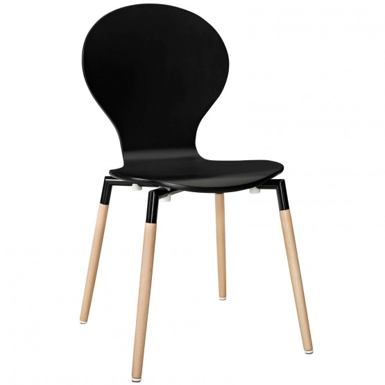 Path Dining Side Chair, Black photo