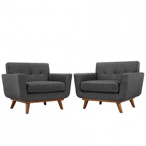 Engage Tufted Fabric Armchair (Set of 2) photo