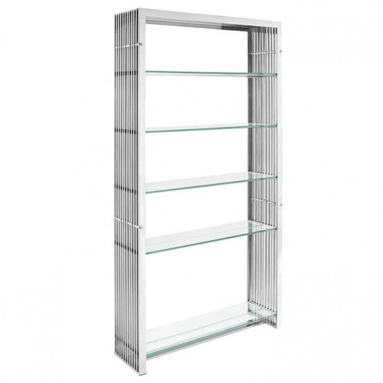 Gridiron Stainless Steel Bookshelf photo