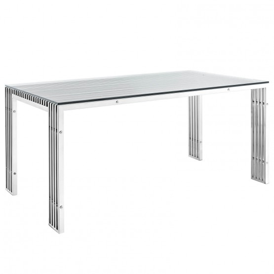 Gridiron B Stainless Steel Dining Table photo