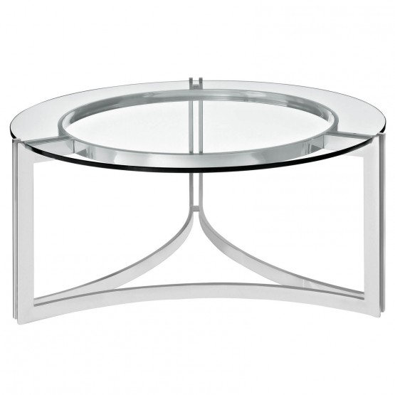 Signet Stainless Steel Coffee Table photo