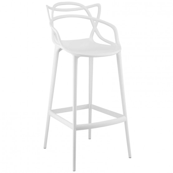Entangled Bar Stool, White photo