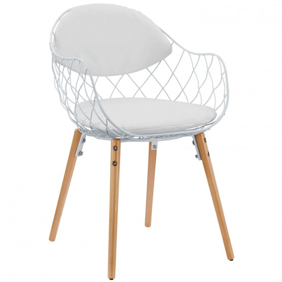 Basket Dining Metal Armchair photo