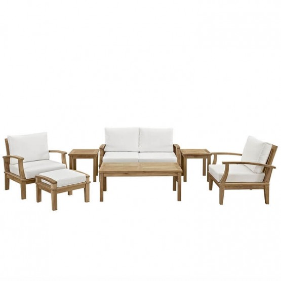 Marina 7 Piece Outdoor Patio Teak Set photo